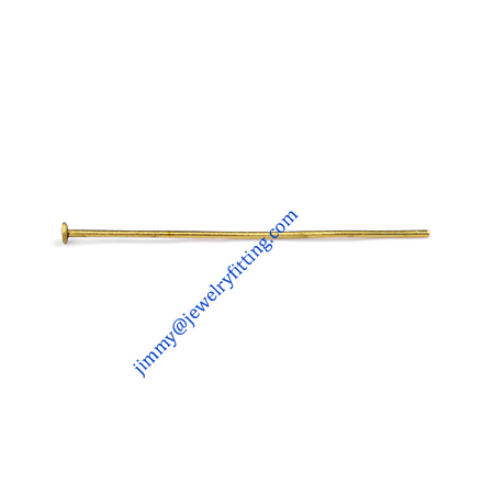 Jewelry Making findings Raw brass metal Head Pins with Round end Scarf Pins jewellry findings 0.6*31mm shipping free
