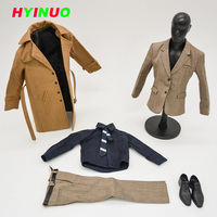 1/6 Scale Male Man Boy Clothing Clothes Set Suit Coat With Shoes Pants Model Fit For 12Collectible Doll Toys Accessories