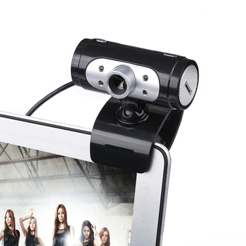 High Definition 1280*720 720p 4 LED Light HD Webcams Web Cam Camera with Night Lights for Computer Built-in Digital Microphone