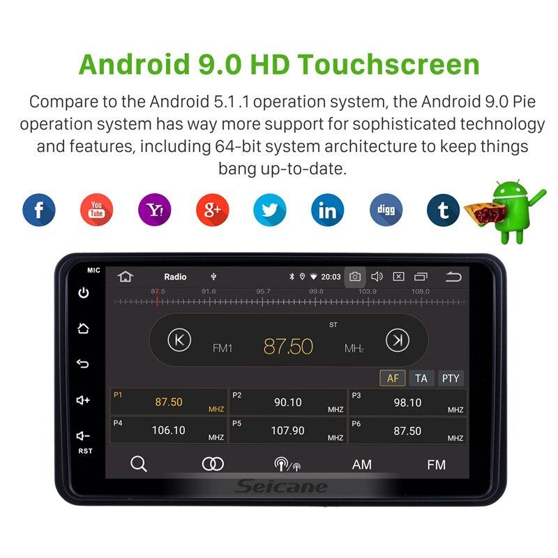 Seicane android 9.0 suzuki