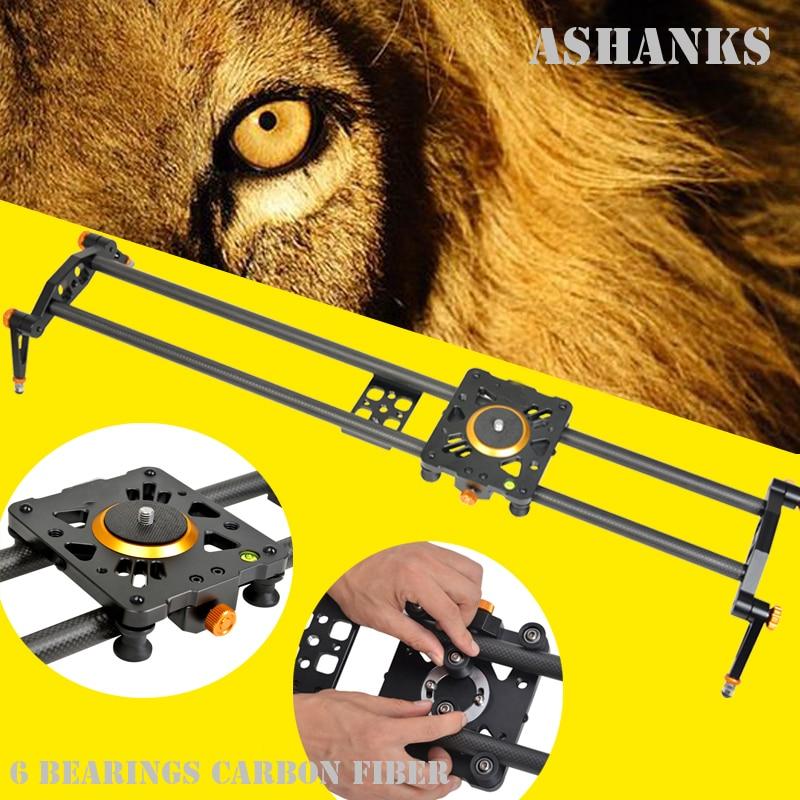 ASHANKS 80cm 6 Bearings Carbon Fiber DSLR Camera DV Slider Track Video Stabilizer Rail Track Slider For DSLR or Camcorder ashanks mini carbon fiber handheld