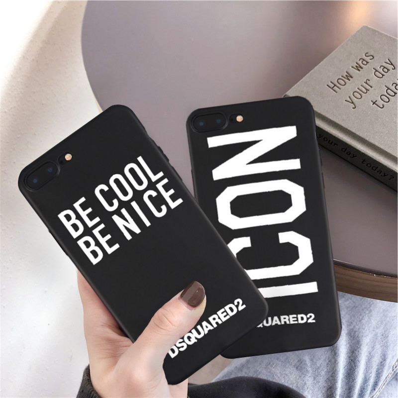JAMULAR Fashion Sport Brand Phone Case For iPhone 6 6s XS MAX XR X 7 8 Plus Black Soft Silicone Back Cover Matte Letter Fundas car