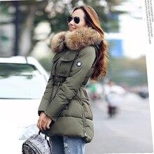 YEYELANA, высокое качество, большой натуральный мех,, зимняя куртка для женщин, натуральный мех енота, воротник с капюшоном, плотное пальто, женская зимняя парка