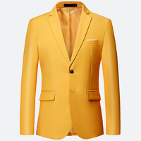 Stylish Men's Casual Formal Work Slim Fit Two Buttons Suit Blazer Groom Fashion Party Wedding Coat Jackets Tops