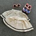 El verano de 2016 nuevos niños de la falda de la falda de algodón Sen para mujer pequeña falda fresca