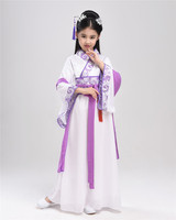 2017 Summer Girl Ancient Chinese Traditional National Costume Hanfu Dress Princess Children Hanfu Dresses Cosplay Clothing