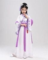 2017 Summer Girl Ancient Chinese Traditional National Costume Hanfu Dress Princess Children Hanfu Dresses Cosplay Clothing
