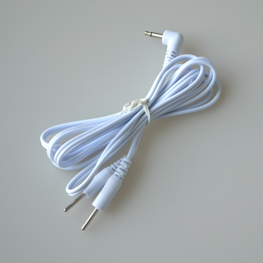 20Pcs/Lot 2 Pins Electrode Wire Cable For Connecting Electrical Tens Digital Therapy Massage Plug 2.5mm Fit For Most Unit