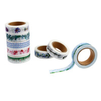 60 PCS Flower Paper Tape Masking Decorative Adhesive Tapes Roll DIY #4A18