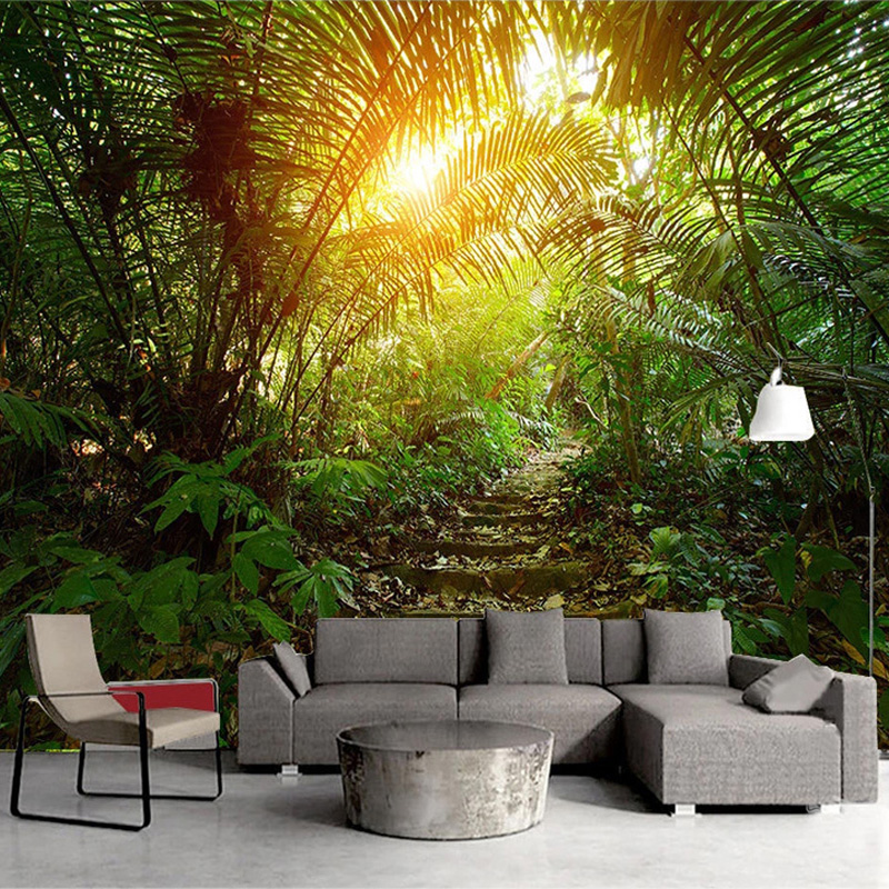 3D Wallpaper Modern Dream Forest Path Natural Scenery Photo Wall Murals Living Room TV Sofa Study Background Wall Decor Frescoes