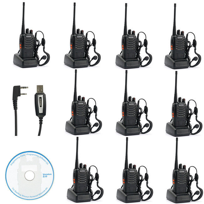 10x Baofeng BF-888s UHF 400-470 MHz 5W CTCSS DCS Two-way Ham Radio Free Earpiece