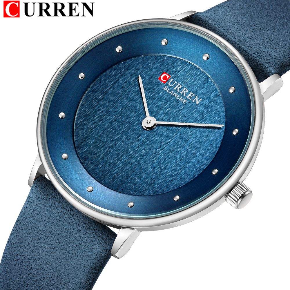 CURREN 9033 Womens Watches Luxury Leather Ladies Quartz Wrist Watch Casual Elegant Women's Clock Female Relogio Feminino