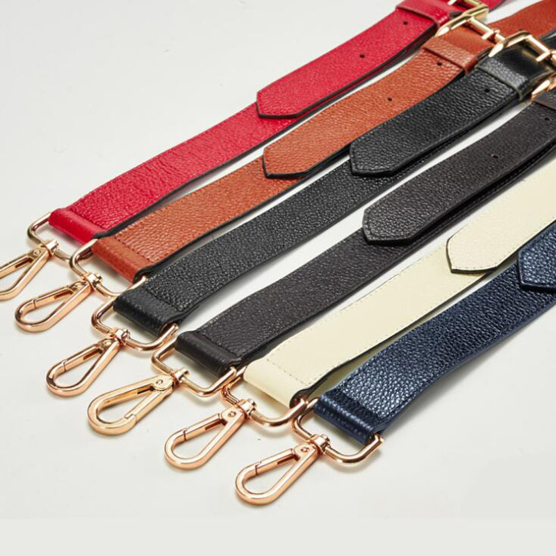 IMIDO 130cm Genuine Leather long bag Strap for Handbags Women replacement straps shoulder belt accessories parts Brown STP027