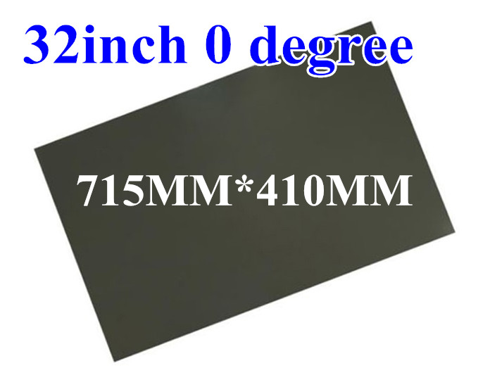 New 32inch 32 inch 0 degree Glossy 715MM*410MM LCD Polarizer Polarizing Film for LCD LED IPS Screen for TV ttlcd laptop hd lcd screen display 17 3 inch fit lp173wd1 tl c3 new led glossy