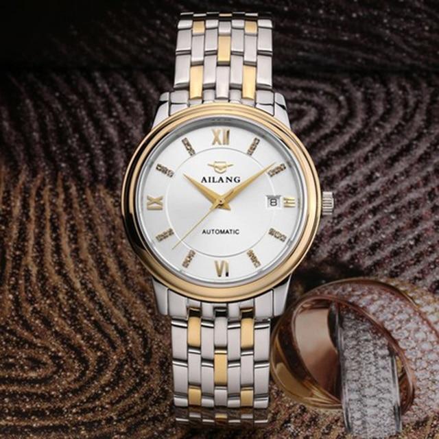 6a235cbc7bb AILANG top de luxo dos homens clássicos relógios mecânicos