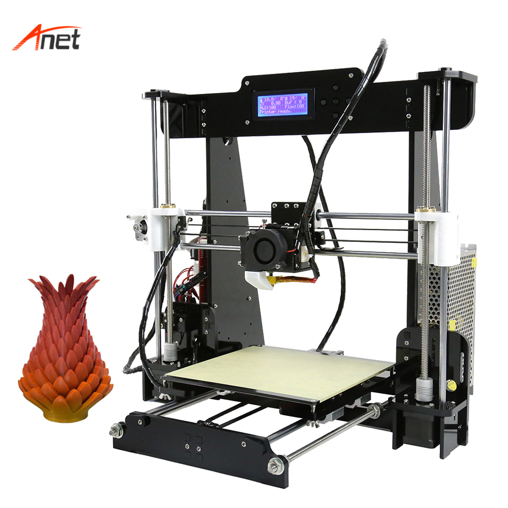 Anet A8 3d Printer Kit Special Price for Russian Optional Auto Lever 22 22 24cm Printing