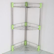 Shelf Kitchen Organizer Shelving Landing home supplies Organizador Prateleira stainless steel Three-angle frame combination
