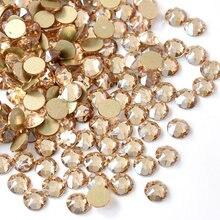2088 najwyższej jakości złoty szampan Non Hot Fix dżetów klej na Flatback Nail Art dżetów dla DIY ozdoba do paznokci B1193