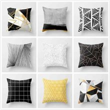 Abstract Geometric Printed Linen Cotton Cushion Cover 45x45cm Decorative Sofa Throw Pillow Case Cushions Home Decor Pillow Cover все цены