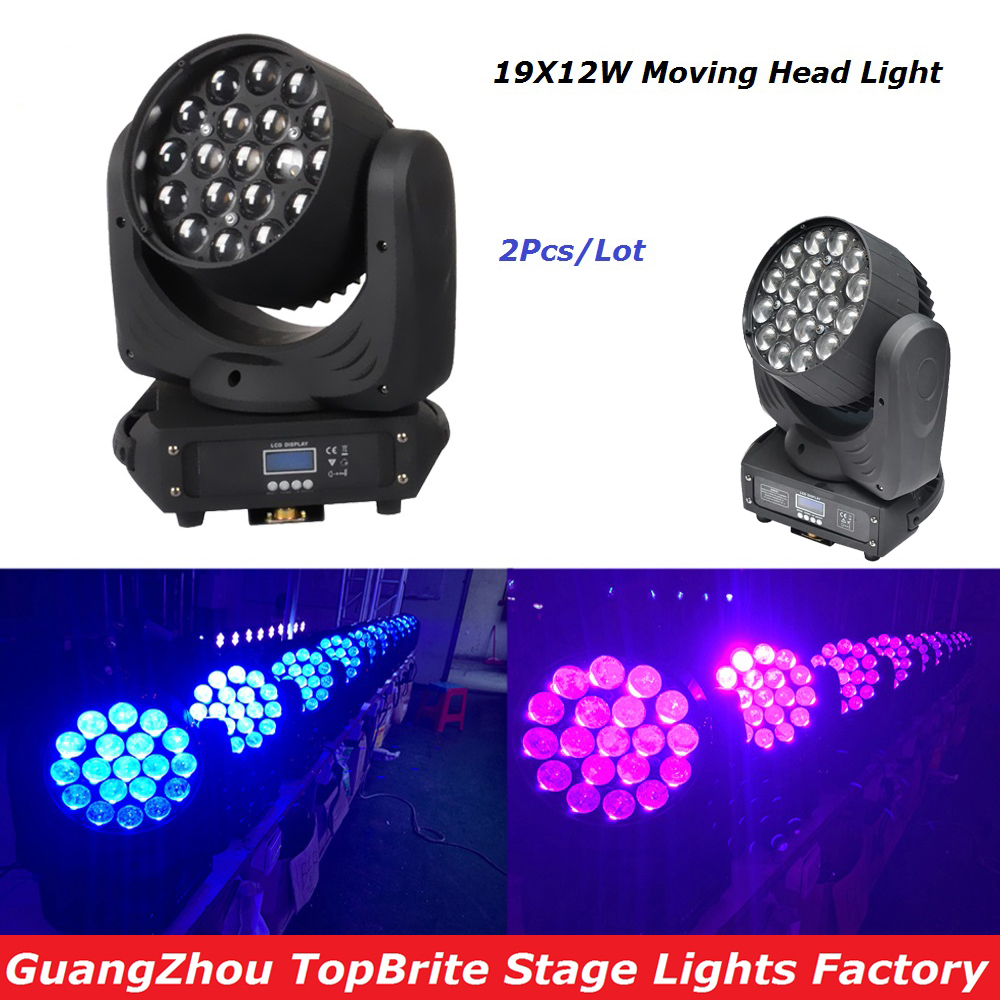 Free Shipping Hot Sales 2Pcs/Lot 19x12W LED Beam Wash Moving Head Light With DMX512 For Professional  Stage Dj Laser Projector free shipping hot sales 2pcs lot 19x12w led beam wash moving head light with dmx512 for professional stage dj laser projector