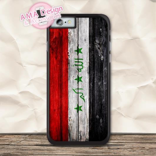 Iraqi Flags Vintage Style Protective Case For iPhone X 8 7 6 6s Plus 5 5s SE 5c 4 4s For iPod Touch