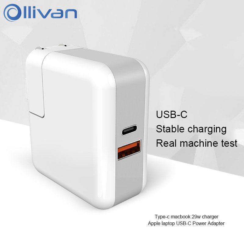 Ollivan 29W USB Type C Adapter For iphone X 8 7 6 With PD QC 4.0 Fast Charger For iphone Xiaomi Huawei Samsung Quick Charger