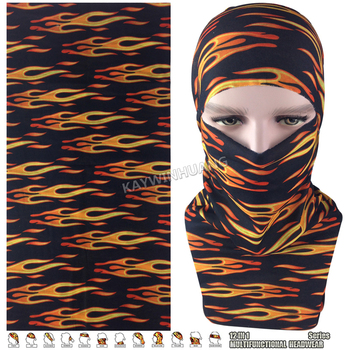 EXPRESS SHIPPING 100pcs/lot (Mix Model OK) Classical Flames Microfiber Multifunctional Seamless Tube Headwear For Cycling Sports