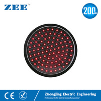 8 inches 200mm Red LED Traffic Signal Light Round LED Traffic Module Replacement 220V 12V 24V Replaced Lamp