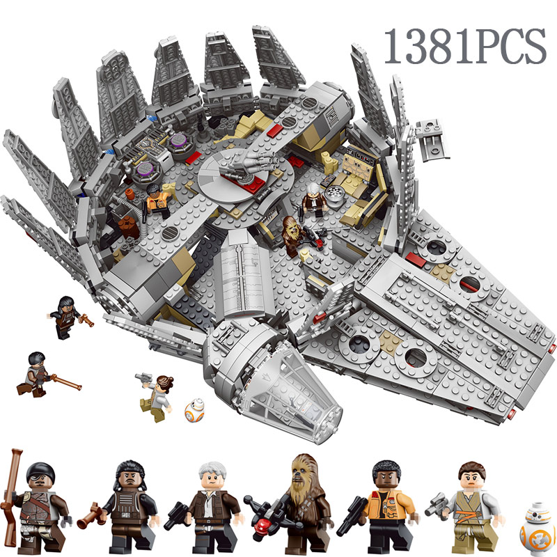 Compatible LegoINGLYS StarWars 10179 Technic Star Millennium Falcon Figures Wars Model Building Blocks Harmless Bricks Toy цена 2017