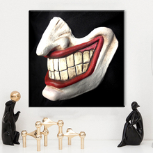 ZZ1008 black white and red creative canvas art coringa canvas pictures oil art painting for home decoration unframed paintings