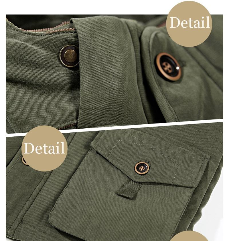 High Quality Men's Windbreaker Fleece Cotton Winter Jacket 13