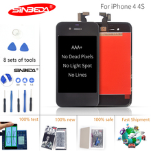 Sinbeda AAA+ 5pcs/lot LCD for iPhone4 4s Touch Screen Glass Digitizer LCD Display Replacement Assembly Pantalla for iPhone 4 4s