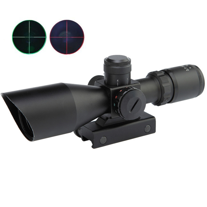 2.5-10x40ER Hunting Tactical Optics Riflescope Chasse Red/Green Dot Sight Scope Weapon Airsoft Air Guns Sight Rifle Sight Scopes 4x30 hunting riflescope red green mil dot sight scope 11 20mm mount rail tactical rifle airsoft air guns rifle sight scopes