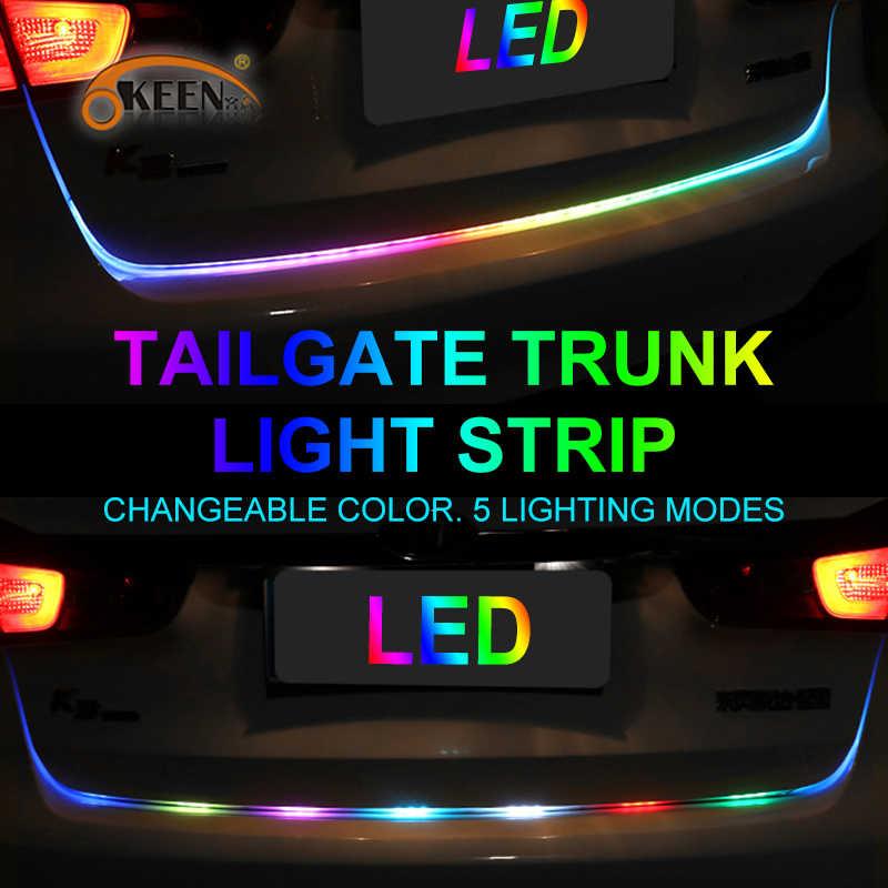 OKEEN автомобильный стильный светодиодный светильник для багажника, RGB ходовая часть, плавающий светодиодный Динамический указатель поворота, освещение багажного отсека
