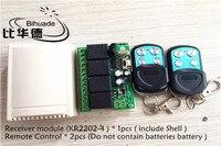 433 ميجا هرتز العالمي لاسلكية 4ch التحكم عن التبديل dc 12 فولت التتابع حدة الاستقبال و 2 قطع rf الارسال 433 ميجا هرتز التحكم