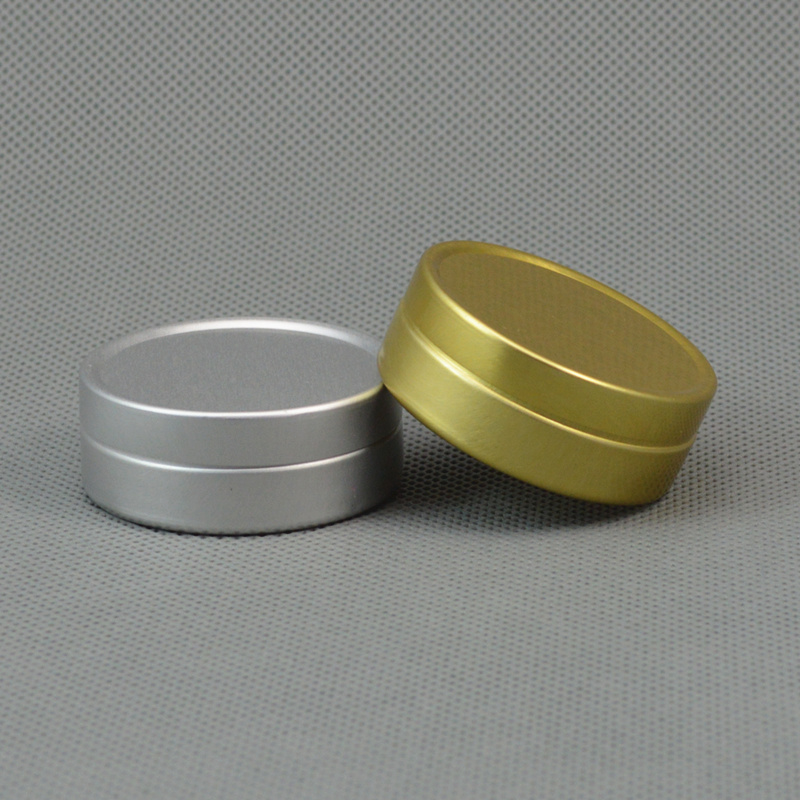 6ps 10g 20g 25g Golden Silver Aluminum Cosmetic Jars Cream Empty Bottle Powder & Pill Containers