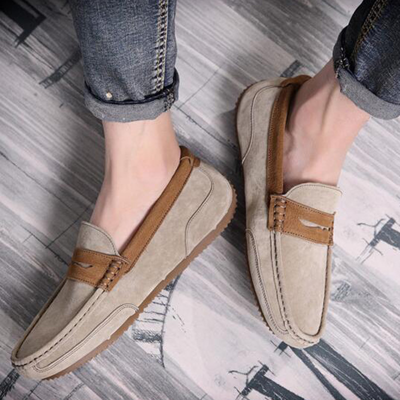 Tangnest Brand Men Suede Leather Loafers New 2017 British Style Men's Flats Man Comfortable Driving Shoes Man Moccasins XMR2522 3