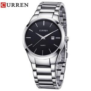 Image 2 - Curren Luxe Merk Mannen Mode Business Calendarwatch Mannen Water Resistant Quartz Horloge 8106