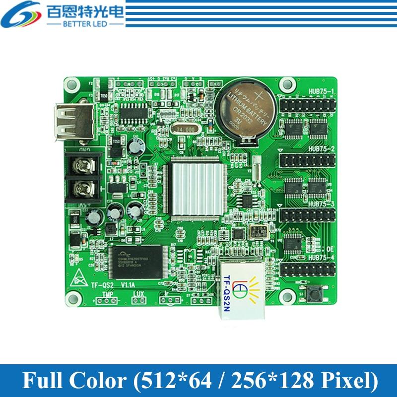TF-QS2N 4*HUB75 RJ45 Network port + USB port Full color LED display control card TF-QS2N 4*HUB75 RJ45 Network port + USB port Full color LED display control card