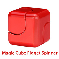 Alloy Magic Cube Fidget Spinner Hand Spinner Finger Spinner Magnetic Mini Spiner Rotating Toy Decompression Toys