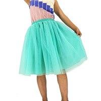 Custom Made 7 Layers High Waist Women Tulle Skirt American Apparel Tutu Skirts Womens Lolita Petticoat