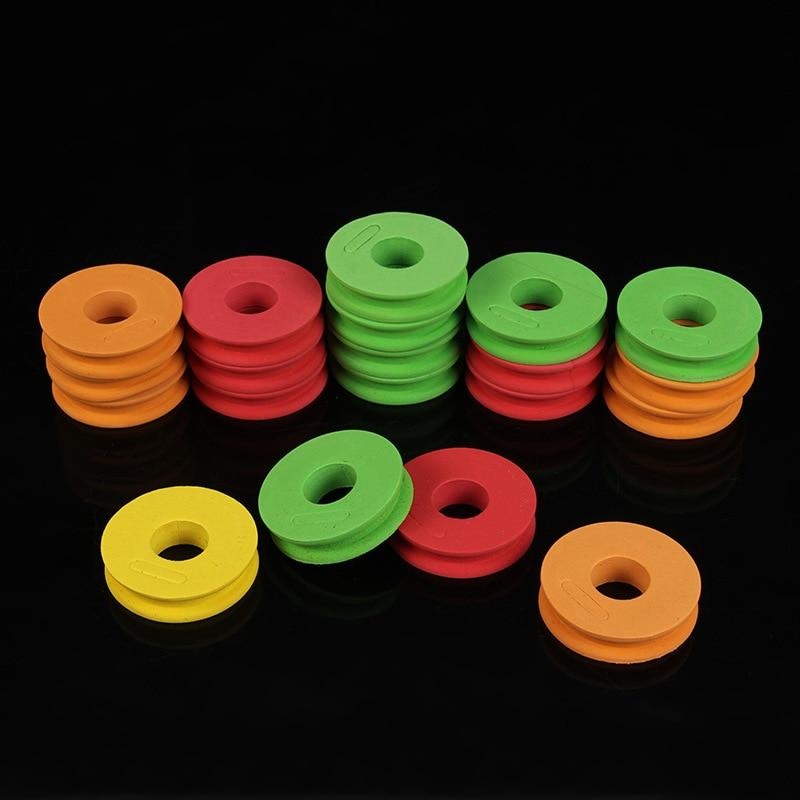 10PCS Foam Winding Main Coil Color Winding Shaft Winding Coil Fishing Reel Fishing Gear Supplies For Fishing