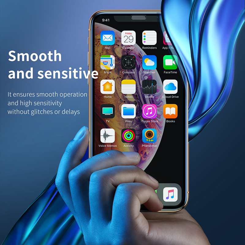 Image 5 - Baseus 3D Screen Protector For iPhone XR 0.3mm Ultra Thin Protective Glass For iPhone Xs X Xs Max 7 8 Tempered Glass Front Film-in Phone Screen Protectors from Cellphones & Telecommunications
