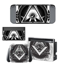 Eye of Providence Decal Vinyl Skin Sticker for Nintendo Switch NS Console + Joy-Con Controller + Dock Station