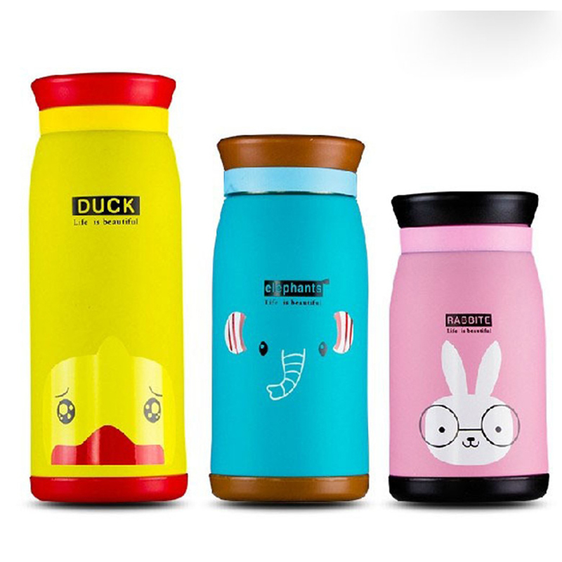 Cute Cartoon Duck Deer Elephant Rabbit Panda Lion Thermal Mug Animal Thermos Cup For Women Kids Water Bottle garrafa termica Термос
