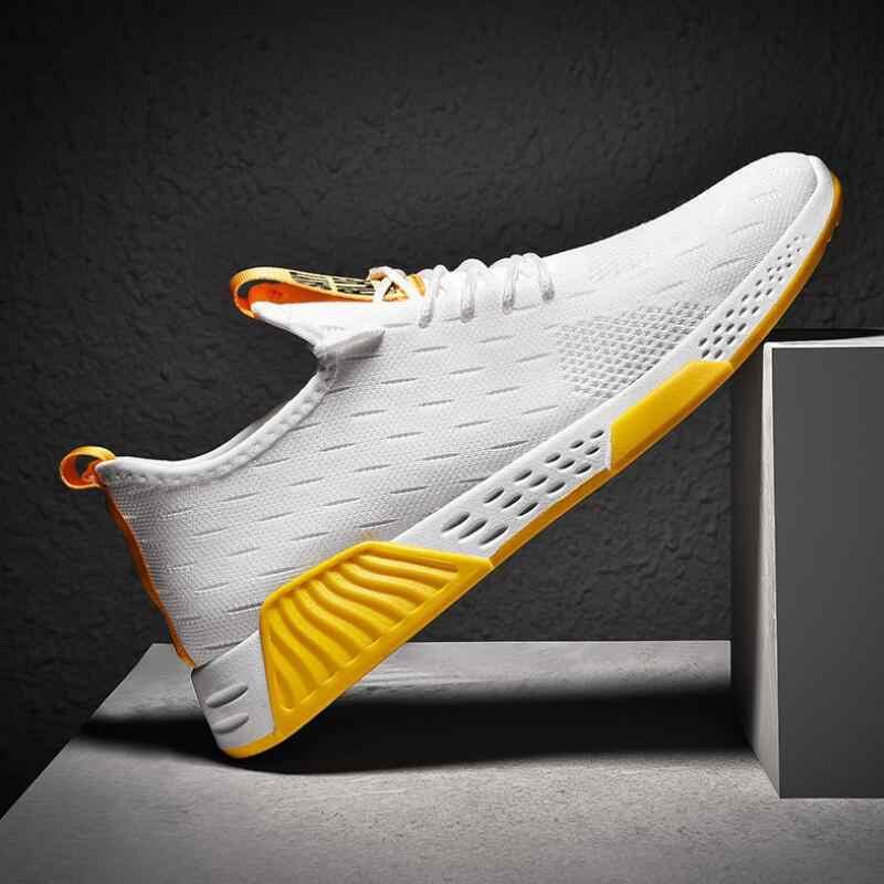 Męskie oddychające oczek buty sportowe wysokiej jakości buty w stylu casual moda jesień letnie trampki lekkie buty do biegania