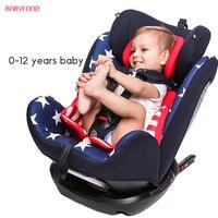 Автомобильное детское безопасное сиденье для детей от 0 до 4 до 12 лет