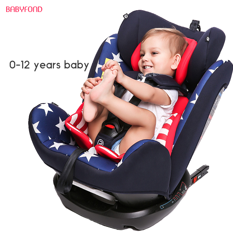 Reebaby Car Child Safety Seat Isofix 0-4-6-12 Years Old Baby, Baby Can Lie