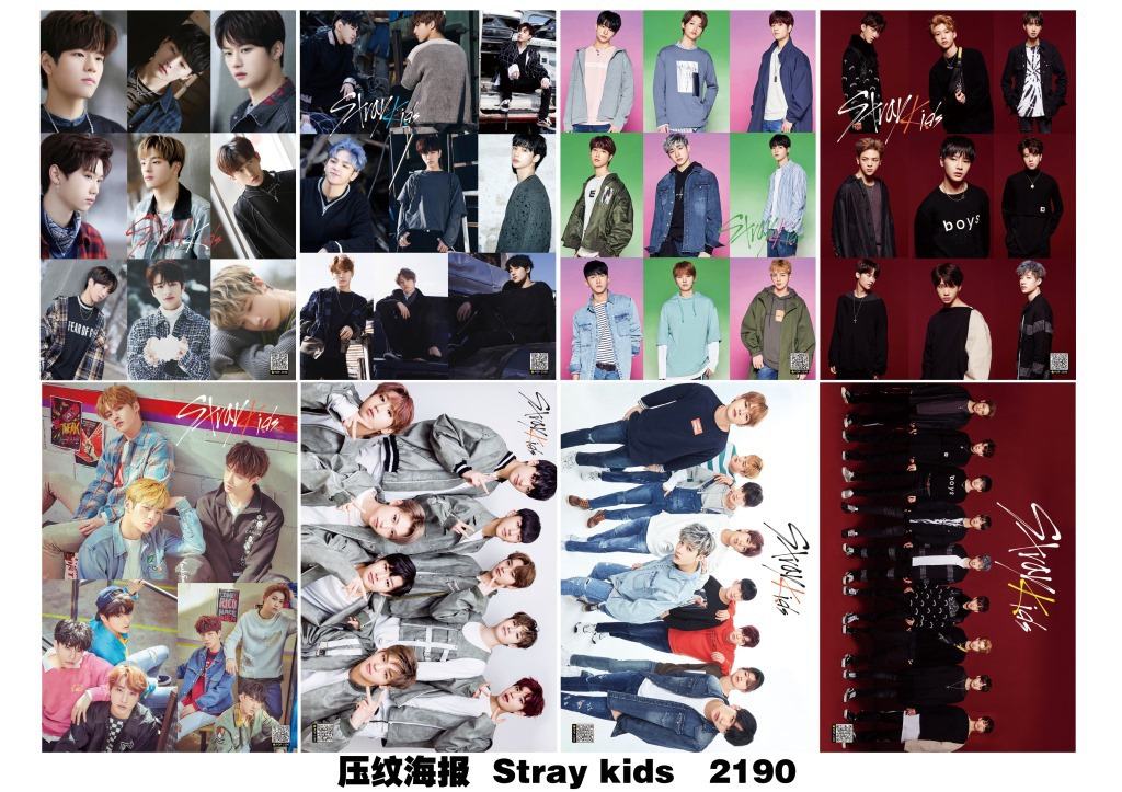 [MYKPOP]STRAY KIDS POSTER 29x42CM 8pcs/set HD Photo Poster KPOP Fans Collection SA18080503 play arts kai marvel avengers infinity war super hero iron man war machine pvc action figure collectible model toy
