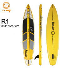 Tabla de surf 381*76*15 cm JILONG Z RAY R1 inflable sup carrera rápido Junta stand up paddle tabla de surf velocidad deporte bote bodyboard(China)
